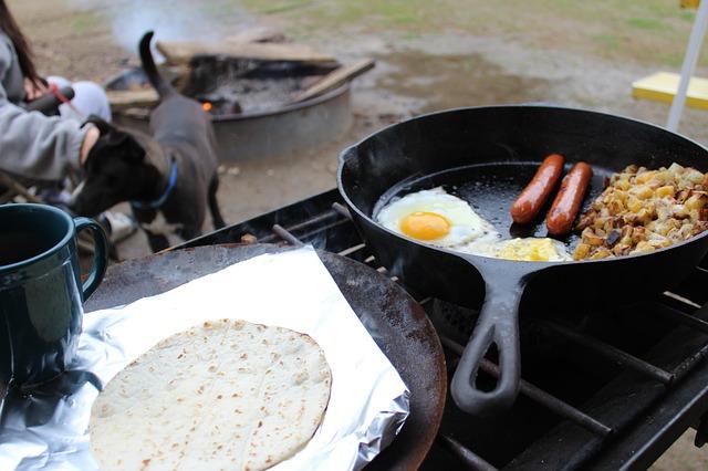 キャンプの料理